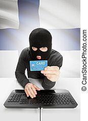 cybercrime, 概念, ∥で∥, 国旗, 背景, -, フィンランド