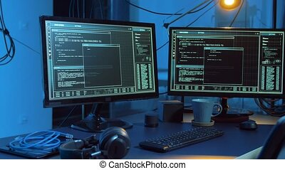 hacking of computer system by virus cyber attack - ...