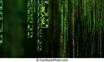 Cybercrime matrix style background