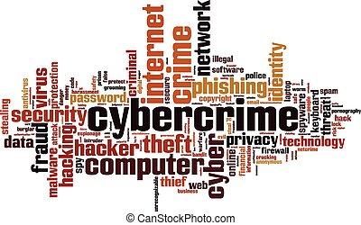 cybercrime, mot, nuage