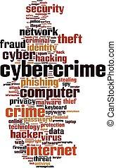 cybercrime, palabra, nube