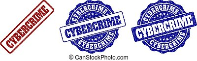 CYBERCRIME Scratched Stamp Seals