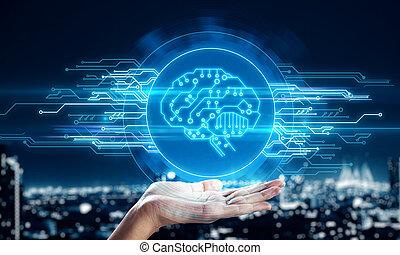 cyberespace, ai, concept