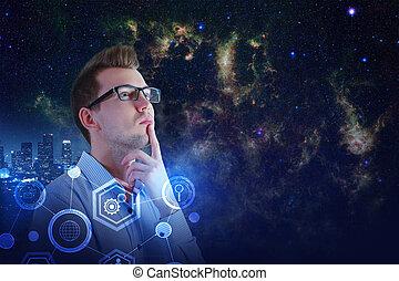 cyberespace, concept, finance