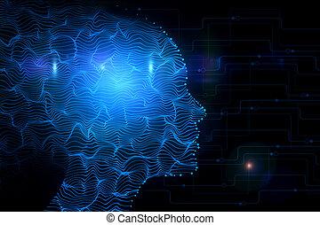 cyberespace, concept, robotique