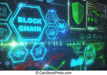 cyberespace, et, bitcoin, concept