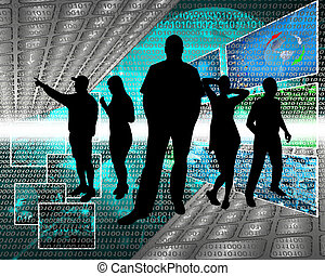 cyberespace, gens