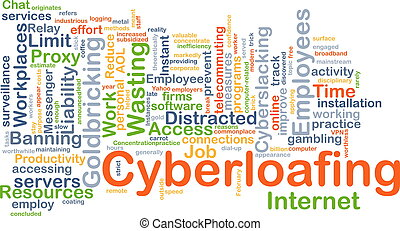 Cyberloafting background concept