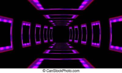 cyberpunk, résumé, arrière-plan., géométrique, élégant, iridescent
