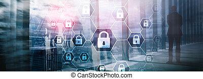 cybersecurity, defense., information, spyware, protection, intimité, virus, données