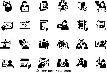 Cybersecurity Icons vector design