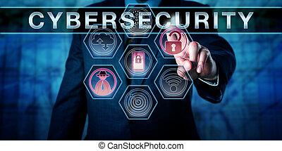 cybersecurity, ingeniero, seguridad, empujar