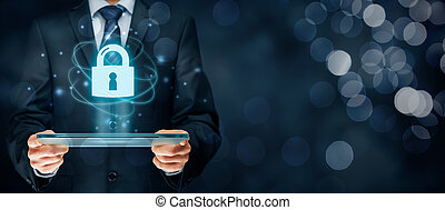 Cybersecurity internet concept