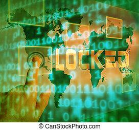 Cybersecurity Lock Digital Threat Security 3d Illustration