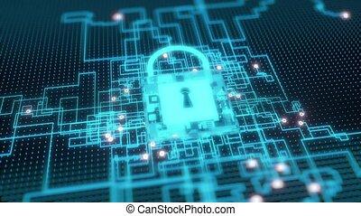 cybersecurity, résumé, 4k, concept.