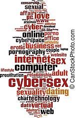 cybersex, palavra, nuvem