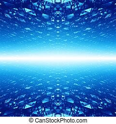 cyberspace, abstrakt, hintergrund