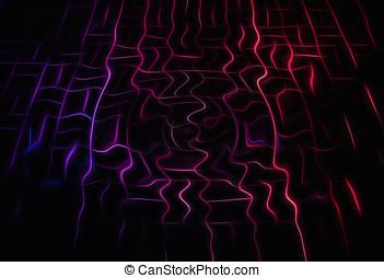 cyberspace, bekabeld, aansluitingen, illustratie, achtergrond