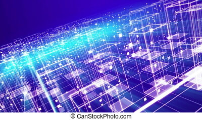 """""""Cyberspace City with Transparent Homes"""" - """"A panoramic 3d..."""