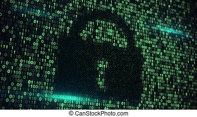 cyberspace digital lock loopable background