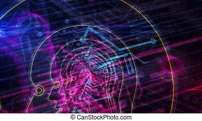 cyberspace, enetry, intelligentie, futuristisch, kunstmatig,...