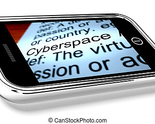 Cyberspace On Mobile Phone Shows Internet Connection
