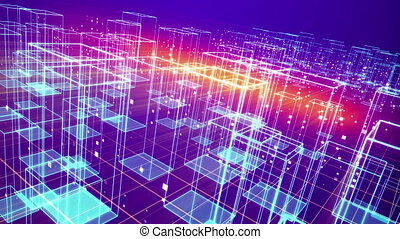 """""""Cyberspace Urban Area with Sparkling Houses"""" - """"An advanced..."""