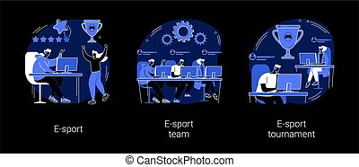 Cybersport abstract concept vector illustrations.