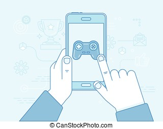 Cybersport and gaming online concept