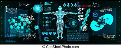 cyborg, インターフェイス, 走り読みしなさい, gui, hud, 未来派