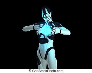 cyborg, frau