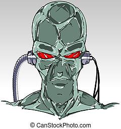 Cyborg head.