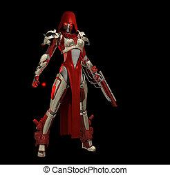 Cyborg soldier - 3d illustration of a advanced cyborg...