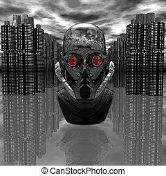 cyborg, tête