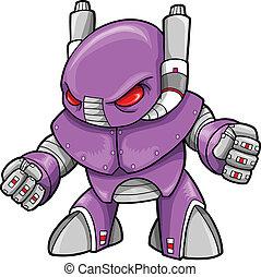 cyborg, vector, robot, illustratie
