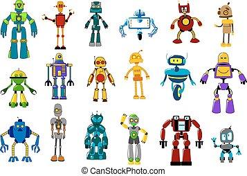 Cyborgs, robots and aliens set