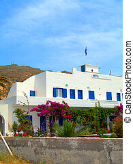 cyclades, île, ios, architecture grecque, typique