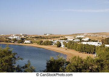 cyclades, eiland, paros, logaras, griekenland, strand