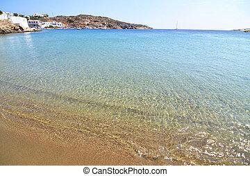 cyclades, isla, faros, sifnos, grecia, playa