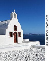 cycladic, 教会, oia, santorini, ギリシャ