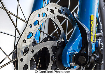Cycle Disc Brake Rotor Close up