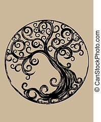 Cycle tree, art vector design