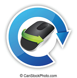 cycle. Wireless computer mouse