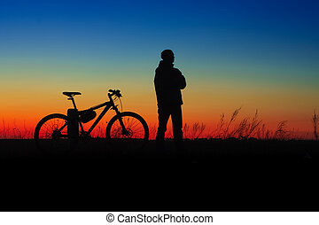 cycler, silhouette