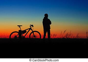 cycler, silueta