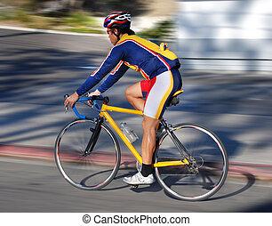 Cycling - A bicyclist