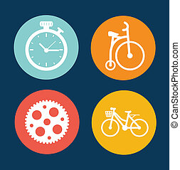 cycling, cirkel, konstruktion