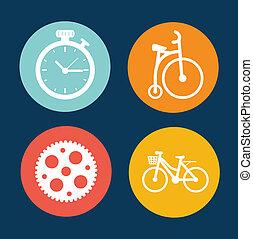 cycling, cirkel, ontwerp