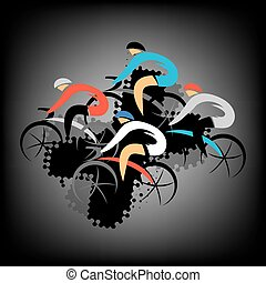 Cycling competitors