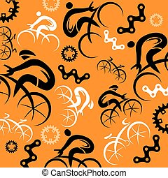 Cycling decorative background - Decorative background with...